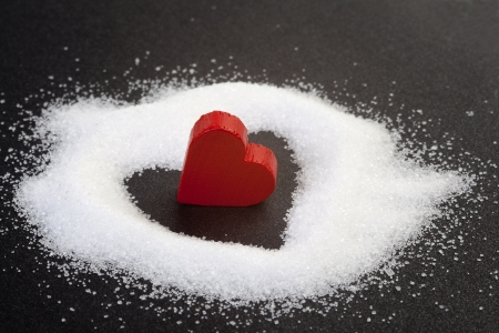 read heart from sugar grains Stok Fotoğraf - 12751356