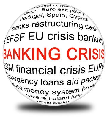 european banking crisis Stock Photo