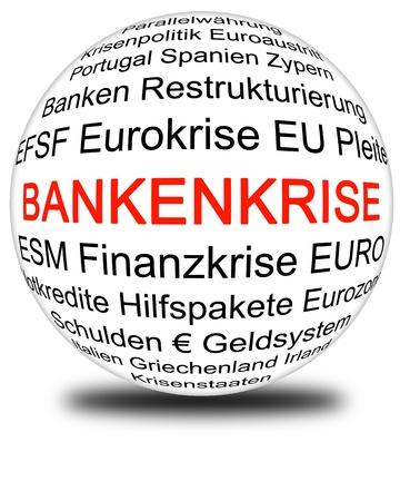 banking crisis: european banking crisis Stock Photo