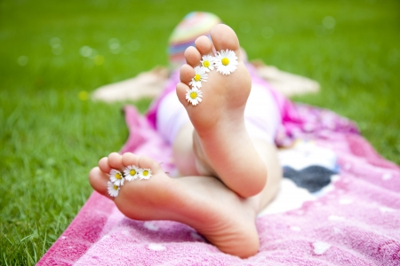 feet Standard-Bild