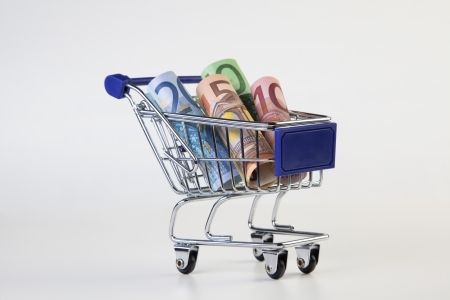 consume: shopping cart Stock Photo