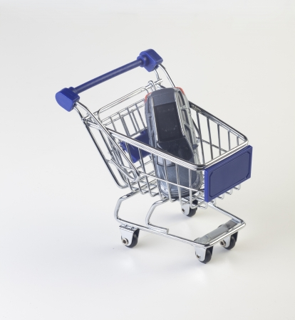 shopping cart with car photo
