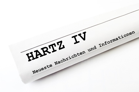 hartz 4: Hartz IV newspaper Stock Photo
