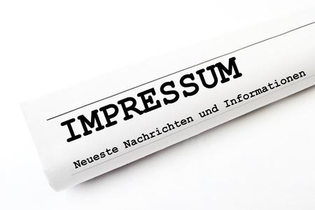 Impressum newspaper