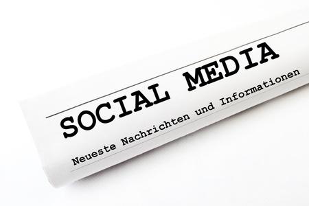 social Media newspaper Stock Photo - 16303175