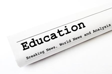 Education newspaper Stock Photo - 16829593
