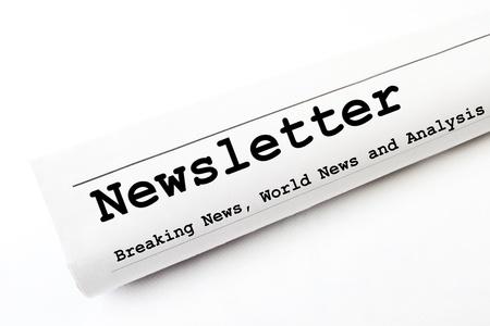 newsletter newspaper Stock Photo - 16829596