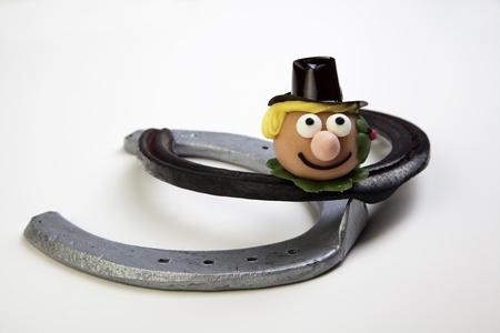 lucky charm horseshoe Stock Photo - 17124058