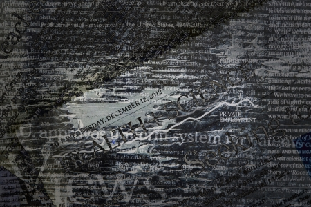 internationally: grunge newspaper background