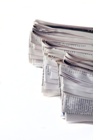 stack of newspaper photo