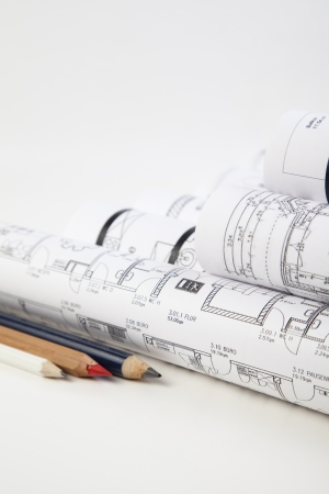 personal contribution: construction plan Stock Photo