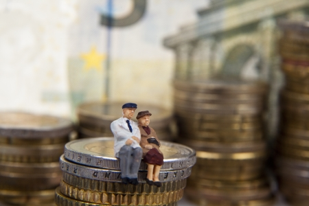 Investment banking concept with money Stock Photo