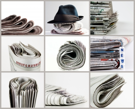 unsubscribe: selection of newspaper Stock Photo