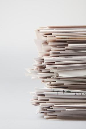 stack of newspaper photo
