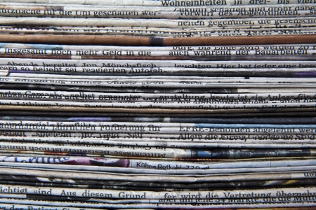 magazine stack: stack of newspaper Stock Photo