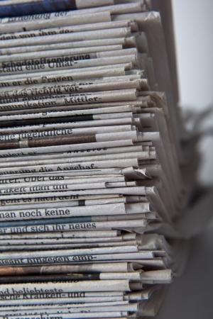 magazine stack: stack of newspaper Stock Photo