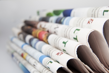 stack of newspaper Stock Photo