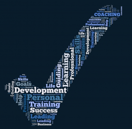 word cloud development Stockfoto