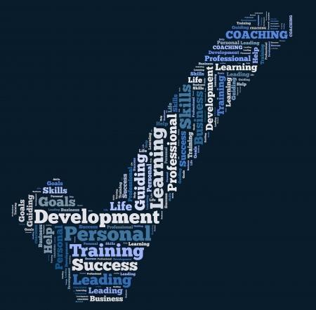 word cloud development Stock Photo