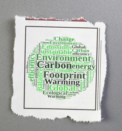 carbon footprint notice Stock Photo - 25196715