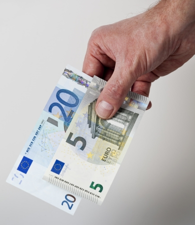cash back: 25 Euro cash back concept Stock Photo