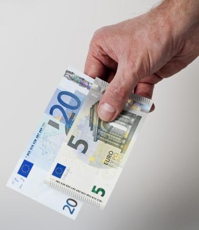 25 Euro cash back concept Stok Fotoğraf