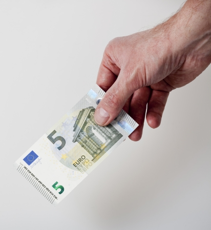 cash back: 5 Euro cash back concept Stock Photo