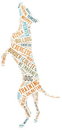 dog wordcloud photo