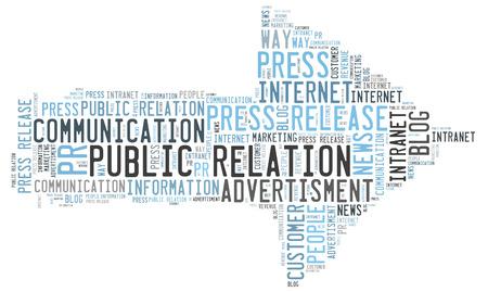 public relation: Public Relation wordcloud Stock Photo