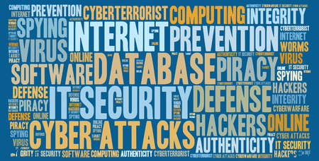 IT セキュリティの単語の雲 写真素材