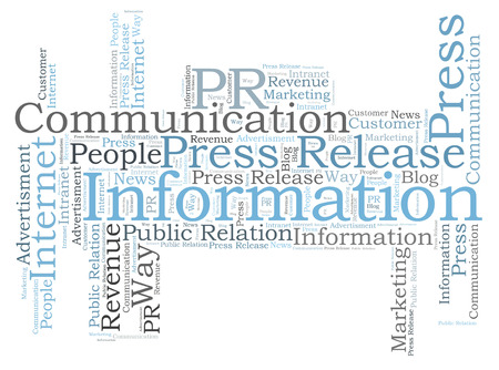 Information word cloud Reklamní fotografie