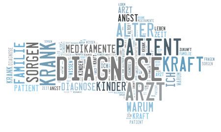 therapie: Diagnosis word cloud Stock Photo
