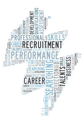 job qualifications: Recruitment word cloud Stock Photo
