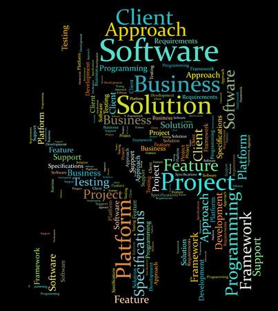 specifiche: Software parola sviluppo nuvola Archivio Fotografico