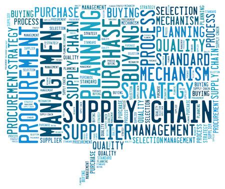 procurement: Supply Chain word cloud Stock Photo