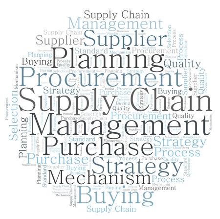 Supply Chain word cloud Archivio Fotografico