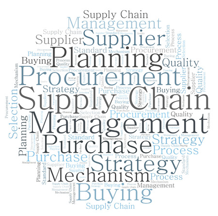 Supply Chain word cloud Standard-Bild