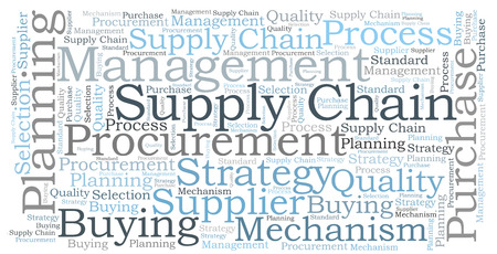 Supply Chain word cloud Stok Fotoğraf