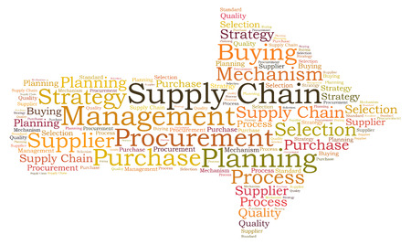 Supply Chain word cloud Banco de Imagens