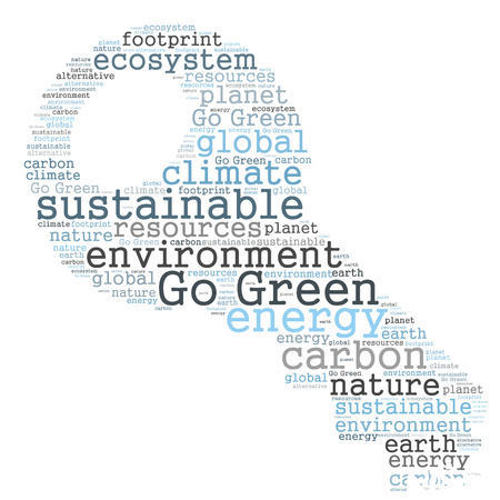 go green: Go Green word cloud Stock Photo