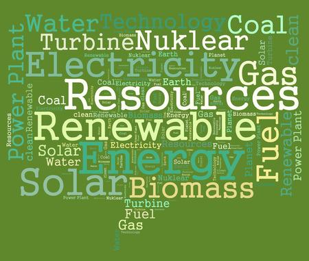recursos renovables: Los recursos renovables nube de palabras