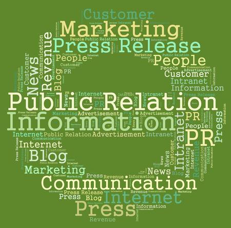 Public Information word cloud Reklamní fotografie