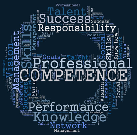 competence: Competence word cloud Stock Photo