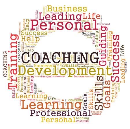 Coaching word cloud Stok Fotoğraf