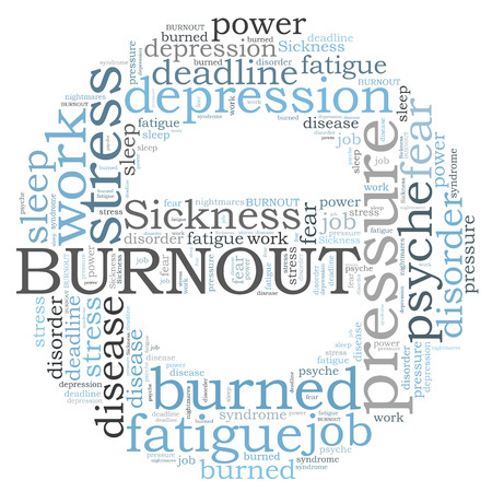 Burnout word cloud photo
