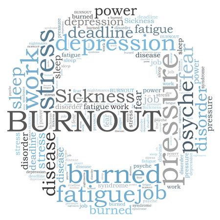 Burnout word cloud Stok Fotoğraf