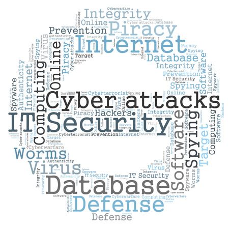 IT Security word cloud photo
