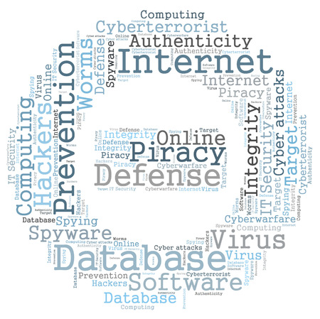 cyberwarfare: Internet word cloud Stock Photo