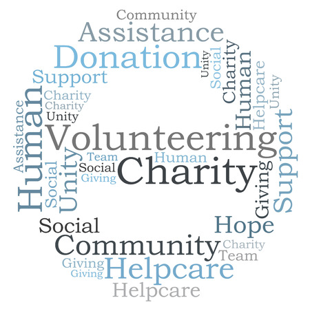 Volunteering Charity word cloud