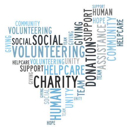 Charity donation word cloud photo